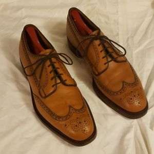Alan McAfee Wingtip Leather Shoes Size 11.5 D